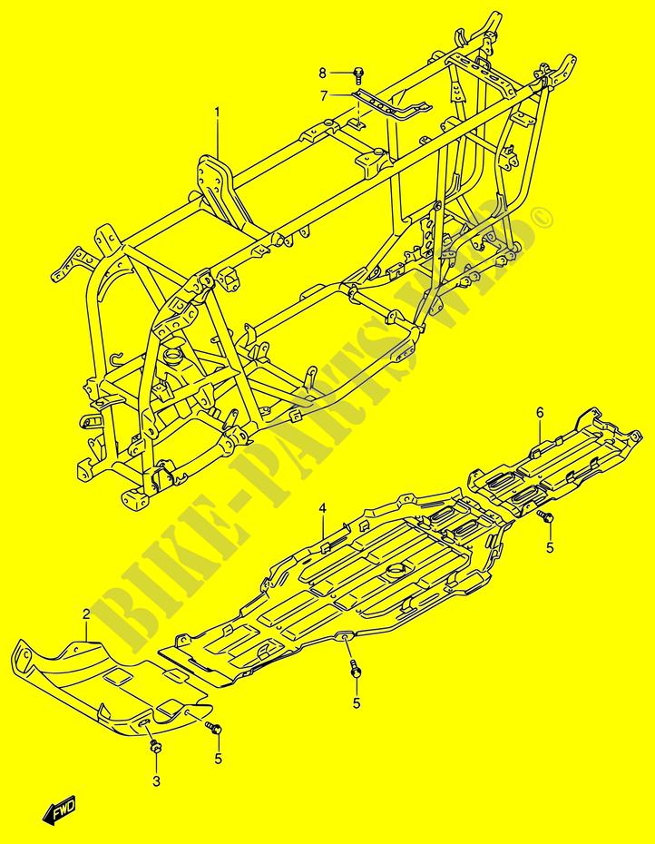 MARCO CARENADOS BASTIDOR LT A700X K5 E17E24 2005 KINGQUAD 700 ATV ...