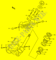 TUBO DIRECCION SUSPENSION/FRENO/RUEDA 50 suzuki-motocicleta RMX 2000 DP024360