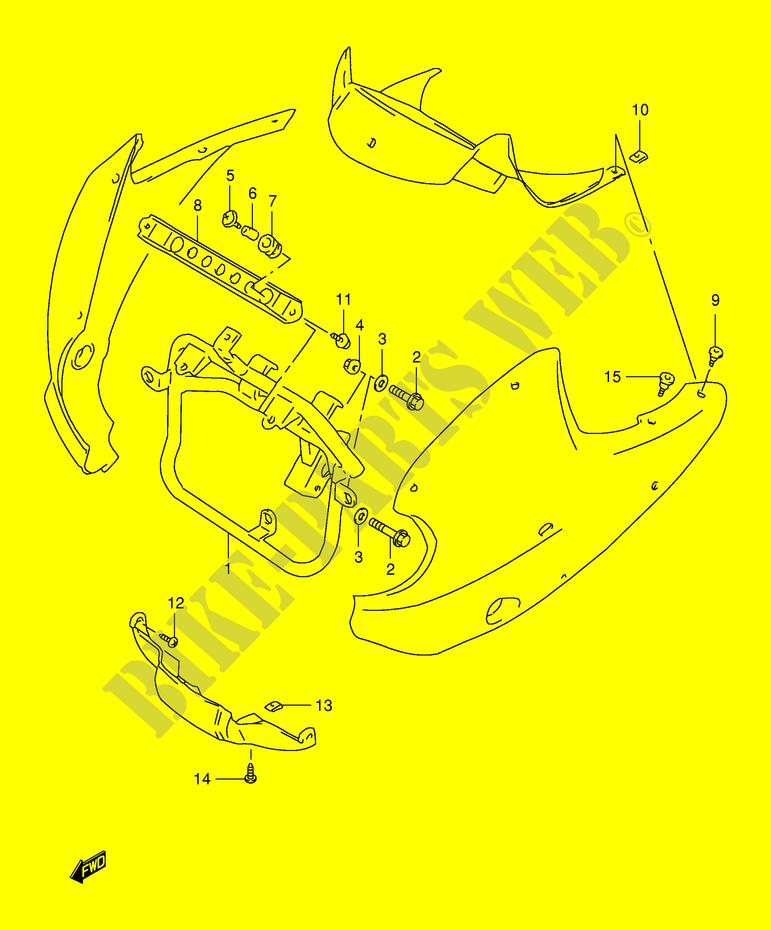 DESPIECE MONTAJE TAPA MODELO V W X CARENADOS BASTIDOR XF650W E2 ...