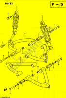 BRAZO SUSPENSION para Suzuki QUADRUNNER 250 1985