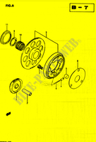 MOTOR ARRANQUE EMBRAGUE para Suzuki QUADRUNNER 250 1985