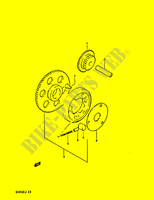 MOTOR ARRANQUE EMBRAGUE para Suzuki GS-S 450 1988