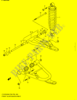 FRONT BRAZO SUSPENSION para Suzuki KINGQUAD 750 2008