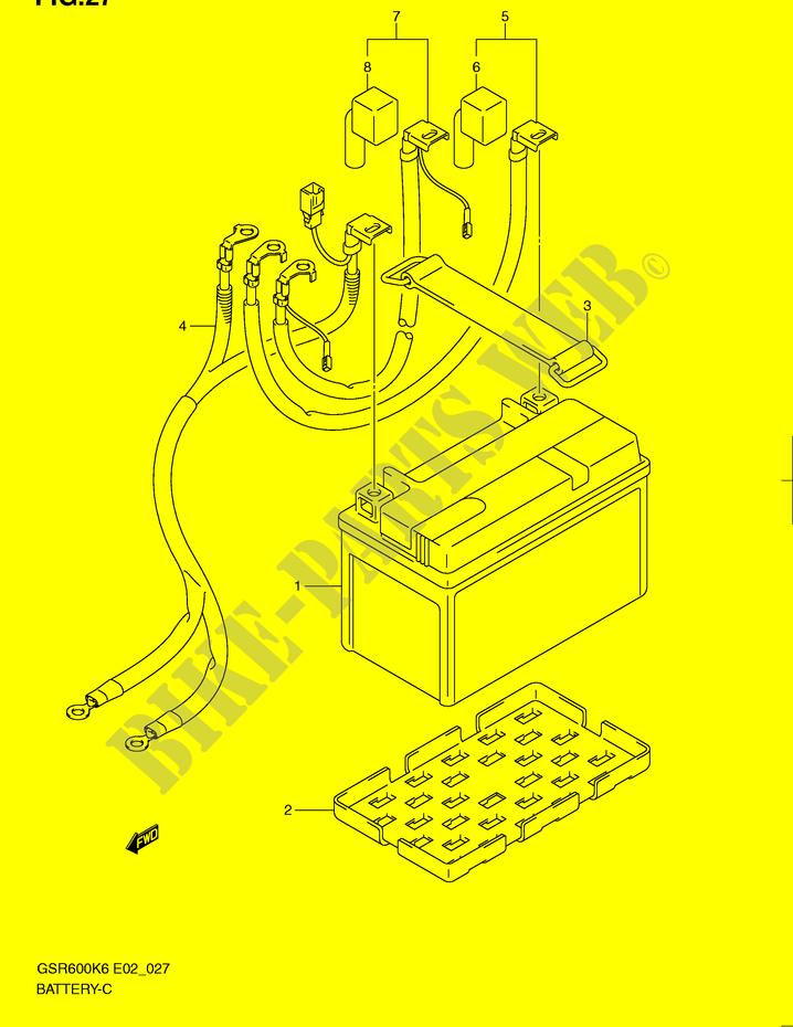 Vertex Battery For Suzuki GSR 600 A ABS 2008
