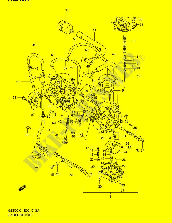 carburador gs500hk1 hk2 huk1 huk2 motor transmision. Black Bedroom Furniture Sets. Home Design Ideas