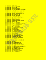 CARTA COLORES para Suzuki QUADSPORT 400 2009