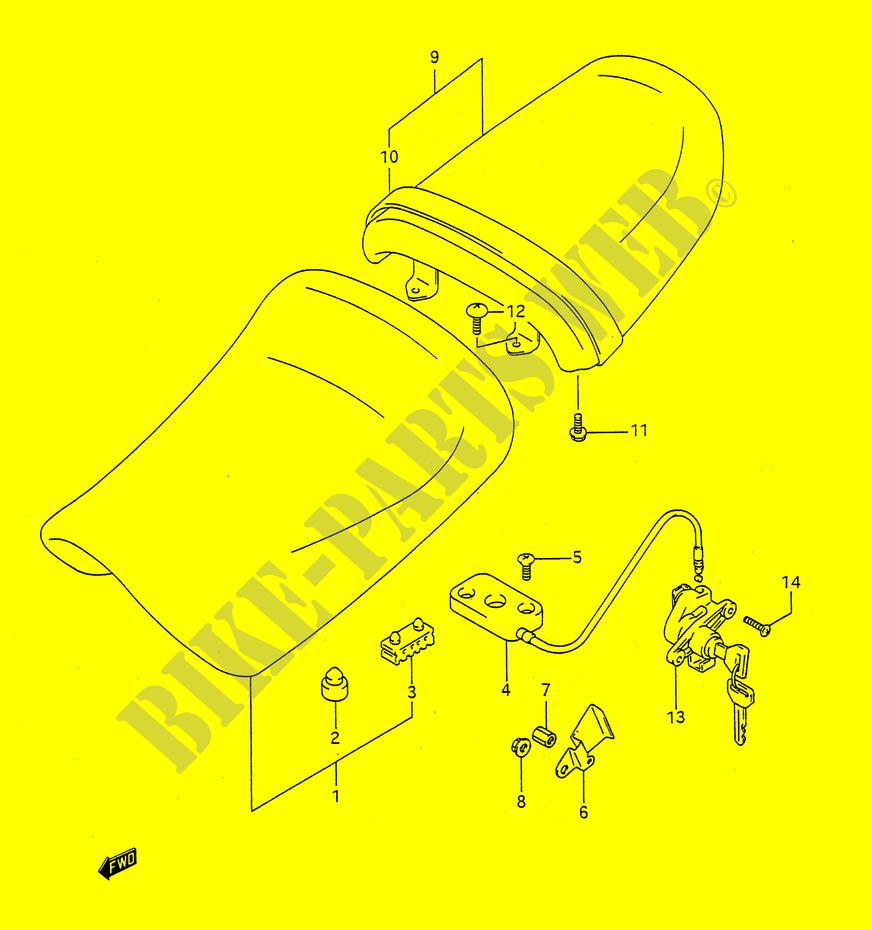 Sobre el sillín del piloto Dp013203