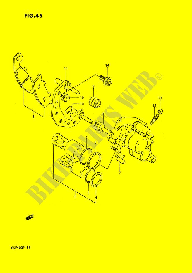 Pasadores de pinza PINZA-DELANTERA-Suzuki-MOTO-400-BANDIT-1993-GSF400P-E2--DP014660