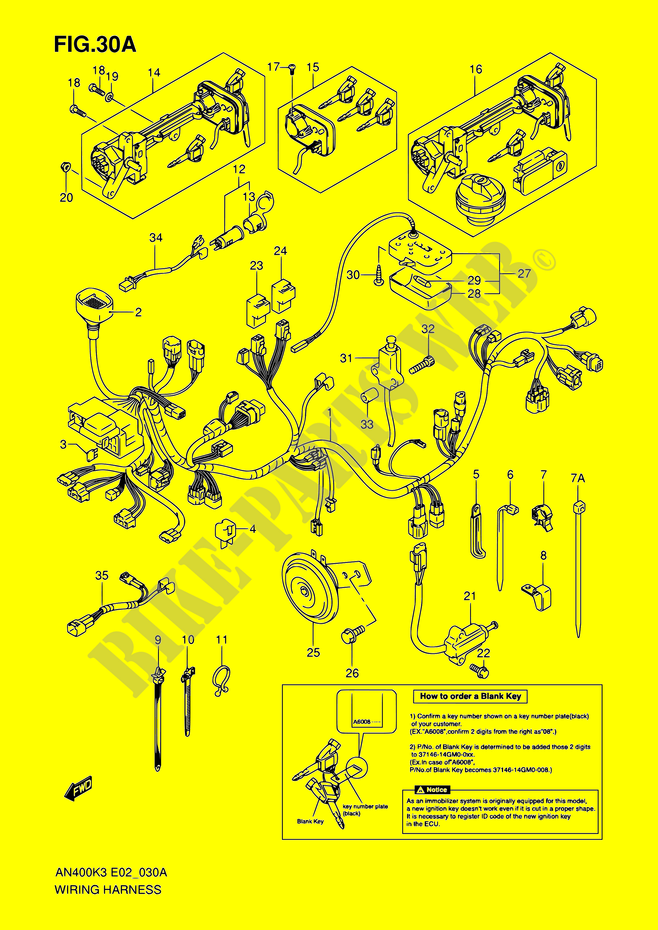 Instalacion Electrica  Modele K5  K6 Imobi  Para Suzuki